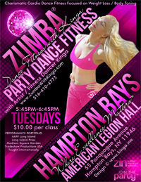 Zumba with Kinga at American Legion Hall in Hampton Bays Library Long Island New York