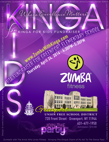 Kinga For Kids Zumba Charity Benefit Fundraiser Event for Greenport Elementary School on Long Island, New York