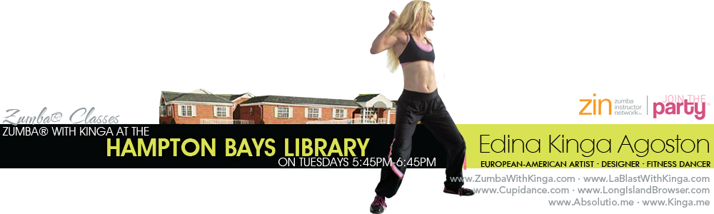 Zumba with Kinga Charismatic Zumba® Craze Cardio Dance Fitness Classes at the Hampton Bays Library Long Island New York