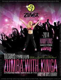 Zumba with Kinga Charismatic Zumba® Craze Cardio Dance Fitness Classes at the Hampton Bays Library Long Island New York