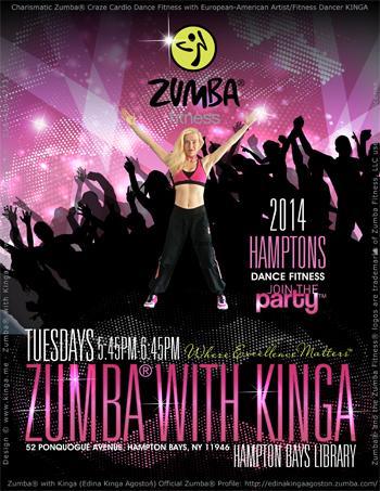 Zumba with Kinga Hampton Bays Library Long Island New York