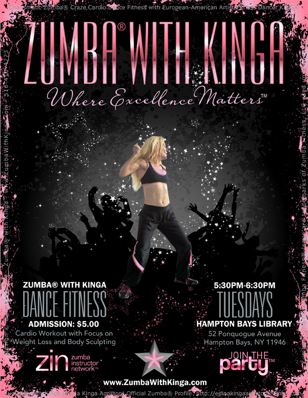Zumba with Kinga at the Hampton Bays Library Long Island New York