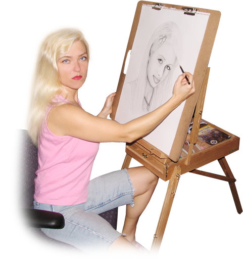 Edina Kinga Agoston - European-American Portrait Artist, Graphic Web Designer, Pianist, Vocalist, Model, Zumba Dancer