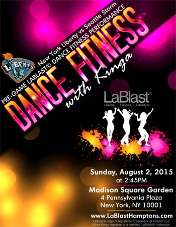Dance Fitness with Kinga LaBlast at Madison Square Garden New York City NY
