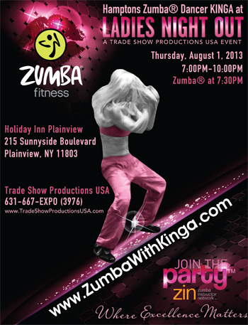 Hamptons Zumba® Dancer KINGA at Tradeshow Productions USA Ladies Night Out at Holiday Inn Plainview, Long Island, New York