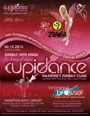 CUPIDANCE Valentine's Zumba Class with European American Artist Zumba Dancer KINGA