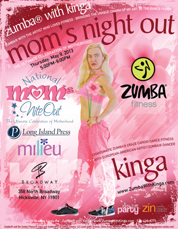 Zumba with Kinga Dance Fitness Gig - Moms Night Out at Broadway Mall in Hicksville Long Island New York