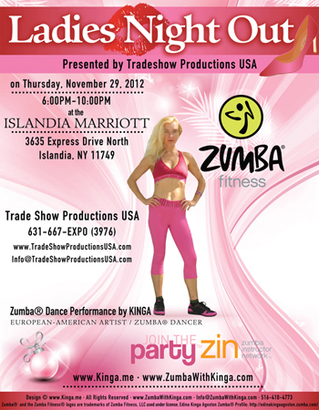 Zumba with Kinga Dance Fitness Gig - Ladies Night Out at Islandia Marriott Long Island New York