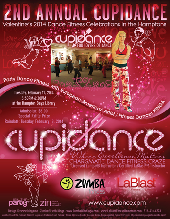 2nd Annual Cupidance Valentine's 2014 Dance Fitness Celebrations in the Hamptons