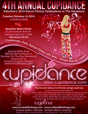 4th Annual Cupidance Valentine's 2016 Dance Fitness in the Hamptons