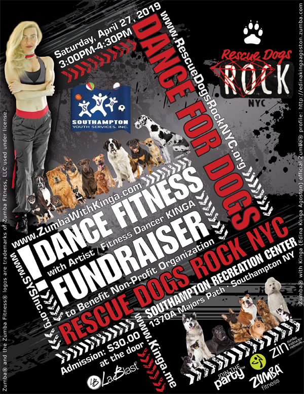 Dance For Dogs Dance Fitness Fundraiser to Benefit Rescue Dogs Rock NYC