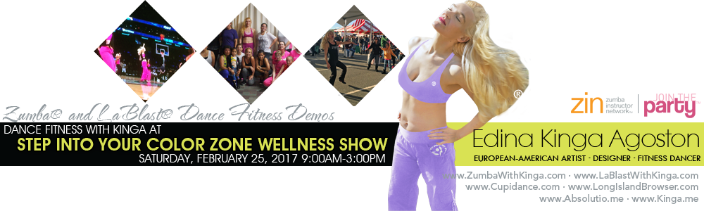 Dance Fitness with Kinga at Step Into Your Color Zone Wellness Show 2017 Long Island New York