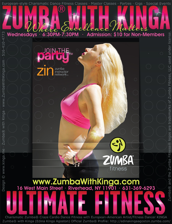 Zumba with Kinga at Ultimate Fitness East Gym in Riverhead Long Island New York