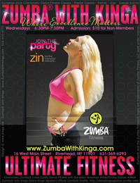 Zumba with Kinga Dance Fitness Classes at Ultimate Fitness in Riverhead, Long Island, New York