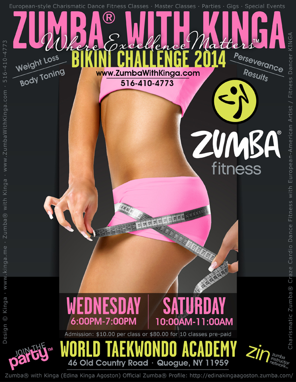 Zumba with Kinga Bikini Challenge - Weight Loss and Body Toning Dance Fitness Classes in the Hamptons Library Long Island New York