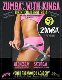 Zumba with Kinga Bikini Challenge - Weight Loss and Body Toning Dance Fitness Classes in the Hamptons Library Long Island New York