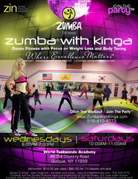 Zumba with Kinga Dance Fitness Classes at World Taekwondo Academy (Karate Kids) in Quogue, Hamptons, Long Island, New York