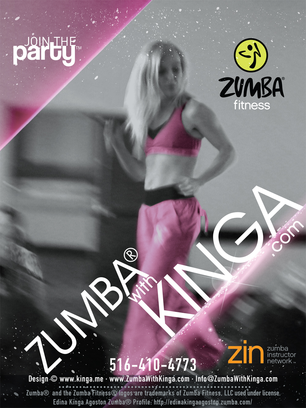 Long Island Zumba Dancer - European American Artist Zumba Dancer Edina Kinga Agoston