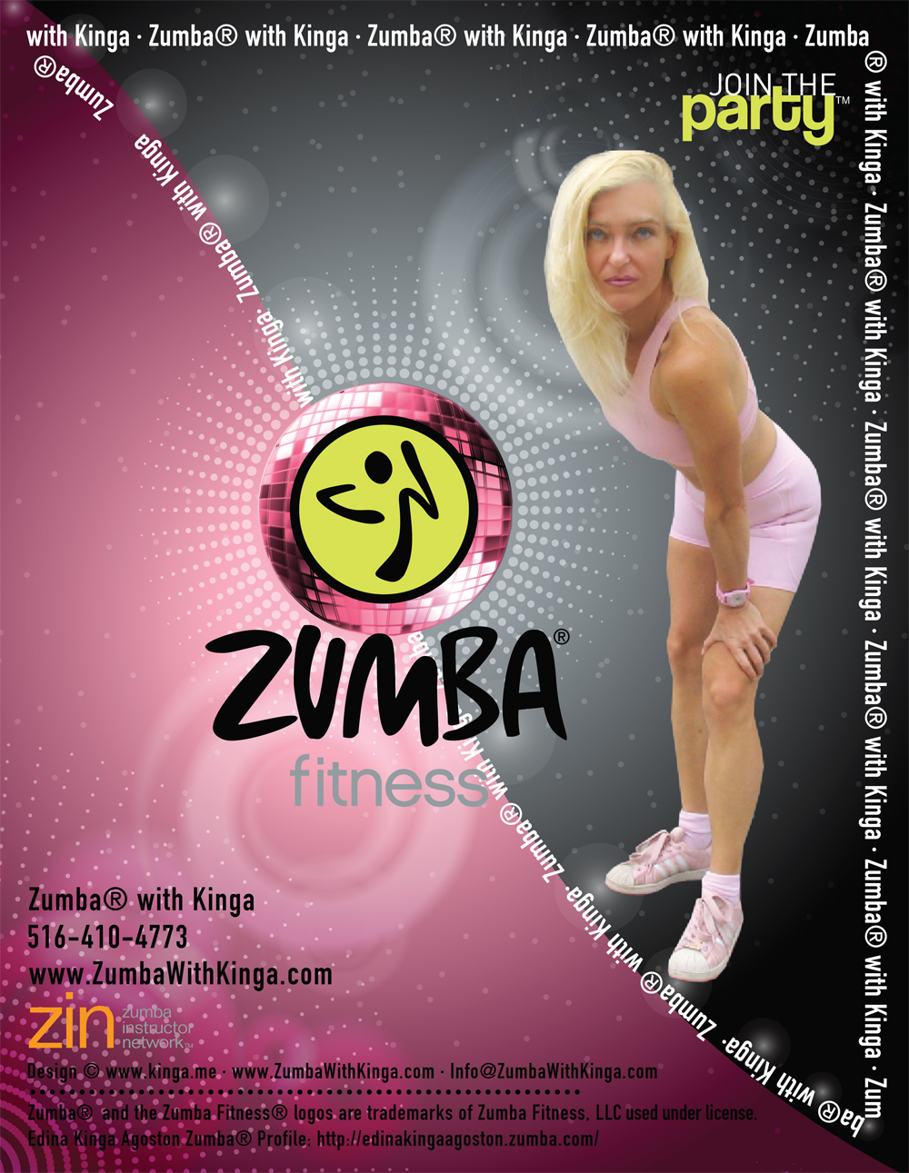 Hamptons Zumba Dancer - European American Artist Zumba Dancer Edina Kinga Agoston