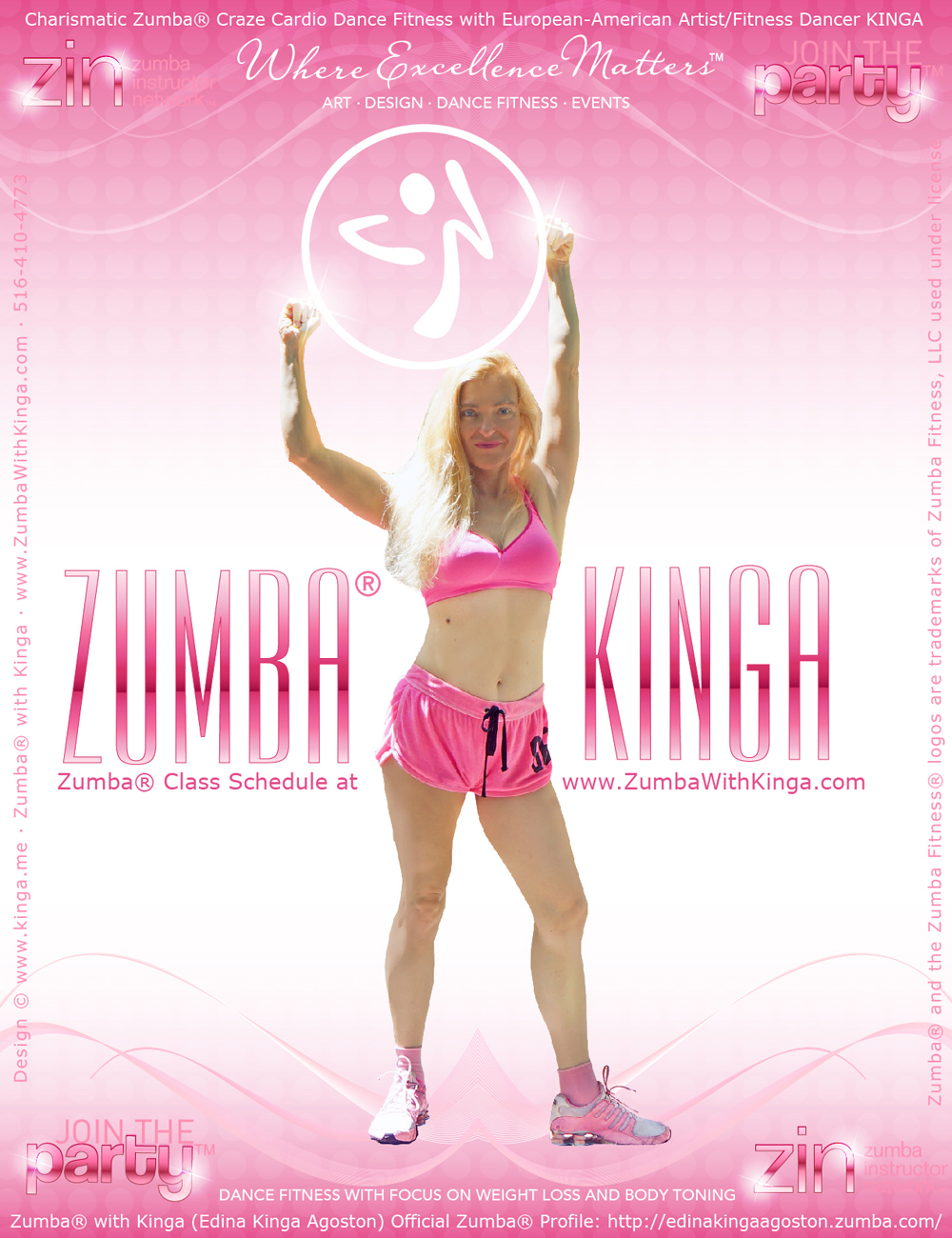 Hamptons Zumba Diva - European American Artist Zumba Dancer Edina Kinga Agoston